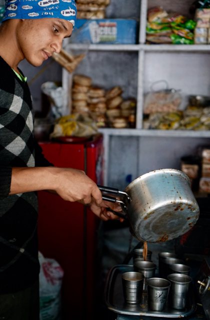 Chai is served thick, fast, sweet but with variations