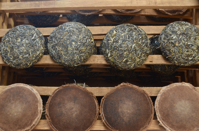 Raw or 'Sheng' Puerh. Basically a green unmolested tea that will age naturally given oxygen, time and its own innate chemistry. For most locals who grow and know tea, far superior.