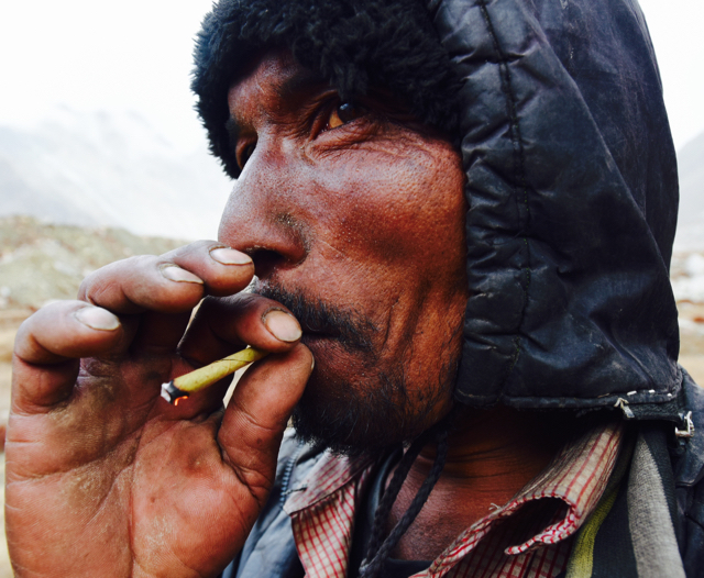 One of the few pleasures of the porters besides tea and companionship: the clove cigarette.