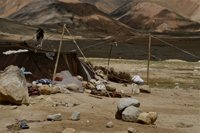 A nomadic tent near Karzok...a relieving site.