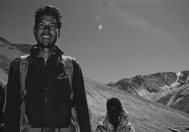 A man who is now a brother. Purun moments before our team departs for Bara Shigri.