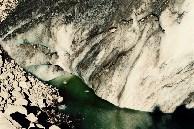 Many 'sources' of water aren't raging eruptions but rather solid sheets of ice and crumbling moraine.