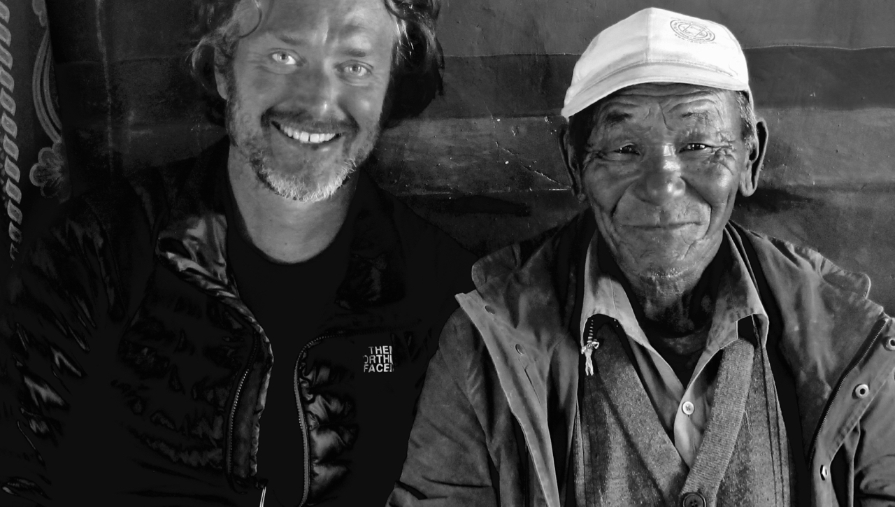 Jeff Fuchs with tea trader who appears in The Tea Explorer documentary film